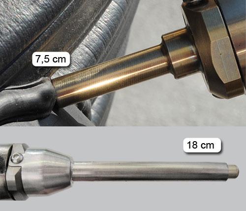Насадка на сварочный экструдер для сварки спирально-навитой трубы